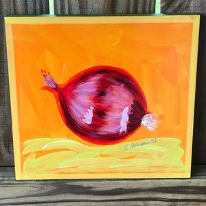 """Foreside Painted Vegetables """"Red Onion"""" by S Minor"""